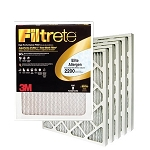 20x25x1 Filtrete Elite Allergen Air Filter (19.6x24.6x.875 - Actual Size) 6 Pack