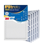 20x25x1 Filtrete Ultimate Allergen Air Filter (19.75x24.75x.875 - Actual Size) 6 Pack