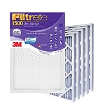 20x25x1 Filtrete Ultra Allergen Air Filter (19.6x24.6x.875 - Actual Size) 6 Pack