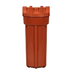 Kemflo FW4500HT34 10 inch High Temperature Red Filter Housing with 3/4 inch Port