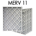 20x24x1 MERV 11 Pleated Air Filter 6PK - 19.375x23.375x.75 - Actual Size