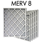 14x25x1 MERV 8 Pleated Air Filter 6PK - 13.5x24.5x.75 - Actual Size