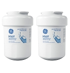 GE MWF SmartWater Refrigerator Replacement Water Filter Cartridge | 2 Pack