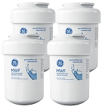 GE MWF SmartWater Refrigerator Replacement Water Filter Cartridge | 4 Pack