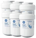 GE MWF SmartWater Refrigerator Replacement Water Filter Cartridge | 6 Pack