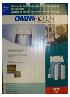 Omnifilter Ot32 Series B Dual Stage Undersink Water Filter