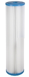 1 Micron Pleated Polyester Sediment Filter | 4.5 x 20