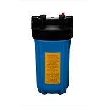YTB-10-BL1-PR Heavy Duty Blue Filter Housing for for Full Flow/BB 10 inch x 4 1/2 inch Cartridge with 1 inch Port