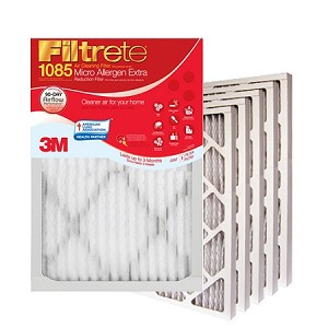 16x25x1 Filtrete Micro Allergen Air Filter (15.6x24.6x.875 - Actual Size) 6 Pack