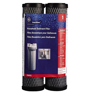 "GE FXWTC SmartWater Whole House Filter Replacement Cartridge 2.5"" x 9-3/4"" 