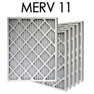 10X30X1 MERV 11 Pleated Air Filter 6PK - 9.5x29.5x.75 - Actual Size