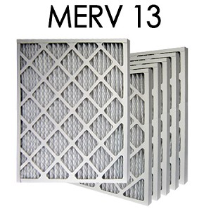 12x24x2 MERV 13 Pleated Air Filter 6PK - 11.375x23.375x1.75 - Actual Size