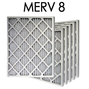 10x20x2 MERV 8 Pleated Air Filter 6PK | 9.5x19.5x1.75 - Actual Size