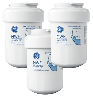 GE MWF SmartWater Refrigerator Replacement Water Filter Cartridge | 3 Pack