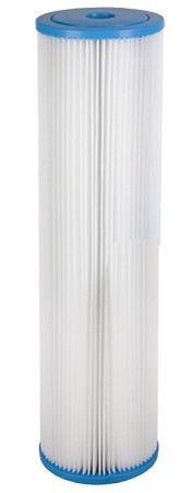 5 Micron Pleated Polyester Sediment Filter | 4.5 x 20
