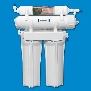 Rioflow USRO4-60-QC 4 Stage Reverse Osmosis System 60 GPD Membrane and Quick-Connect Fitting