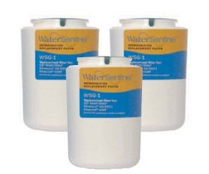 Water Sentinel WSG-1 Refrigerator Filter | GE MWF / GWF Compatible | 3 Pack