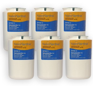 Water Sentinel WSG-1 Refrigerator Filter | GE MWF / GWF Compatible | 6 Pack
