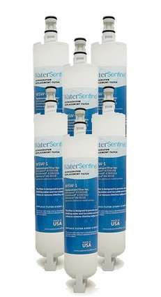 Water Sentinel WSW-1 Refrigerator Filter | Whirlpool 4396508 | 6 Pack