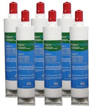 Water Sentinel WSW-2 Refrigerator Filter | Whirlpool 4396510/4396508 | 6 Pack