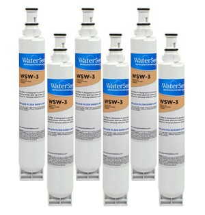 Water Sentinel WSW-3 Filter Cartridge - Whirlpool 4396701 Compatible - 6 Pack